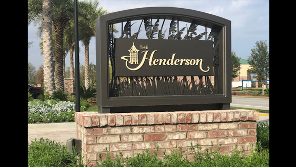 Henderson Monument Sign